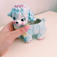 Vintage baby lamb/poodle planter, so very cute! All sales are ...