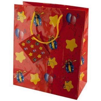 Medium Stars & Balloons Gift Bag Set Of 30 Pack