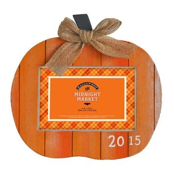 Halloween 2015 Pumpkin 4'' x 6'' Frame (Orange)