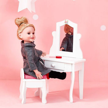 "Olivia's Little World - Little Princess 18"" Doll Vanity Table & Stool Set"
