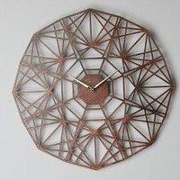 Sarah Mimo Gatehouse Wall Clock, Geo in Brown Size: One Size Clocks