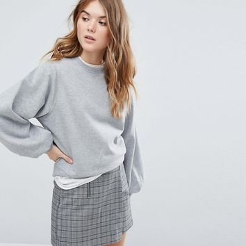 New Look Pleat Cuff Sweat at asos.com