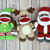 BENTLEY'S CORNER: Mini Holiday Sock Monkey