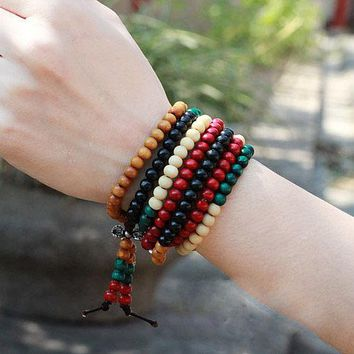 Colorful Bodhi Prayer Beads Bracelet