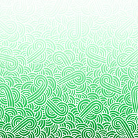 Ombre green and white swirls doodles Fabric Fabric