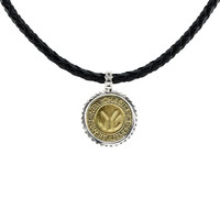 NYC Authentic Token Urban Sterling Silver & Leather Necklace