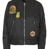 Badged MA1 Bomber Jacket - Topshop