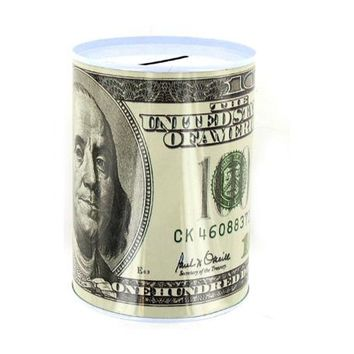 20 50 100 Dollar Bill Tin Money Bank ( Case of 72 )