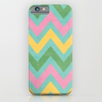 spring chevron iPhone & iPod Case by Her Art
