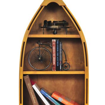 Canoe Book Shelf Small Hancrafted Bookcases & Standing Shelves