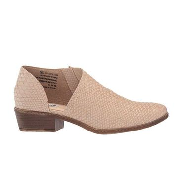 Not Rated Jasper Ankle Bootie in Blush Snakeskin