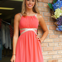 DEAL of the DAY! Goddess Dress Coral