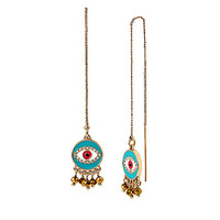 BOHO BETSEY EYE LINEAR EARRINGS: Betsey Johnson