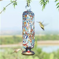 La Fortuna Hummingbird Feeder Tall (491561874), Eco-Friendly Bird Feeders & Houses | Recycled Glass Bird Feeders | Reclaimed Wood Bird Houses