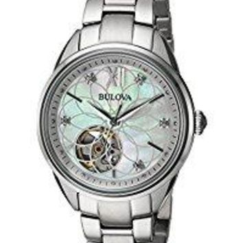 Women's Automatic Stainless Steel Casual Watch, Color:Silver-Toned (Model: 96P181)