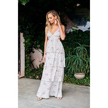 Always Flawless Floral Dress (Taupe)