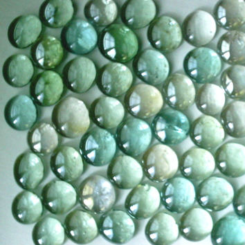 Pastel Color Flat Backed Glass Embellishments For Use In Terrariums Aquariums Stepping Stones Gardening Craft Supplies