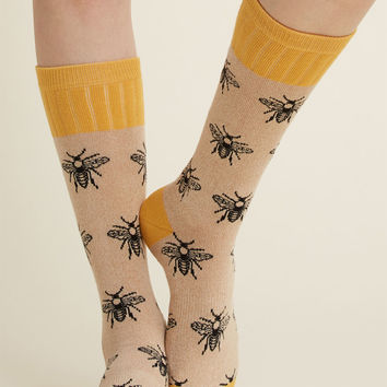 Credible Critter Socks in Honey Bee