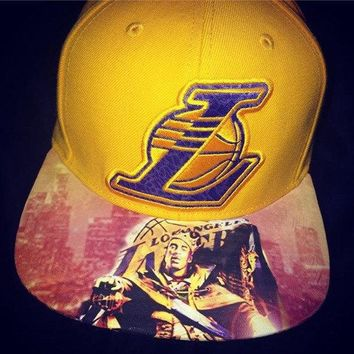 Los Angeles Lakers New Era Snapback or Fitted Cap with Custom King Kobe