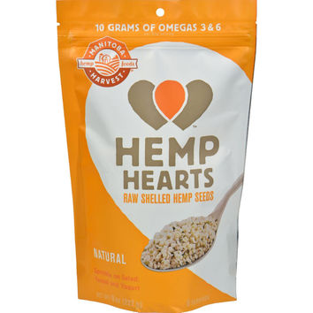 Manitoba Harvest Shelled Hemp Hearts Hemp Seed - Case Of 8 - 8 Oz