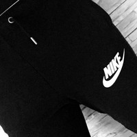 Nike Thick leisure pants men's sport pants hight quality Black grey