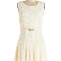 ModCloth Mid-length Sleeveless A-line Neutral Understanding Dress