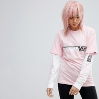 Vans Exclusive To ASOS Double Layer T-Shirt In Pink at asos.com