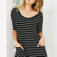 BDG Ribbed Tee Shirt Romper - Urban Outfitters