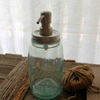 Vintage Ball Mason Jar Soap Dispenser