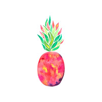 Pineapple Flare Hex Wall Decal