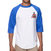 Diamond Supply Eternal Raglan Navy & White Baseball Shirt at Zumiez : PDP