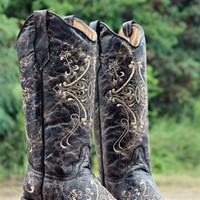 Genuine leather cowgirl boot.