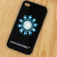 Ironman Heart - Stark Industry iPhone 5 iPhone 4 - 4S Plastic Hard Case Rubber Soft Case