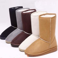 New Hot Sell 6 Color & 5 Size Women Winter Warm Snow Boots Shoes Free Shipping