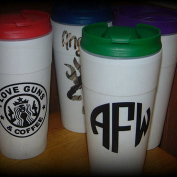 Personalized Coffee Tumbler - Customized Coffee Cup
