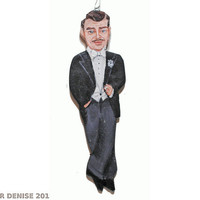 Clark Gable  Christmas Ornament