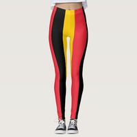 Leggings with flag of Belgium