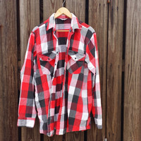 Heavy, Vintage Flannel Shirt by WINTER RUN - Made in USA - Size Extra Large