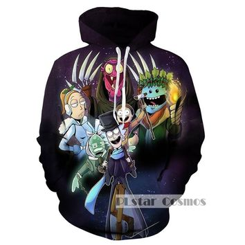 PLstar Cosmo Brand Hoody Rick And Morty Hoodie Sweatshirt Men Women Funny Cartoon Anime Hoodies Casual Pullover Dropship