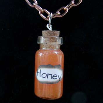 Honey Bottle Charm Necklace