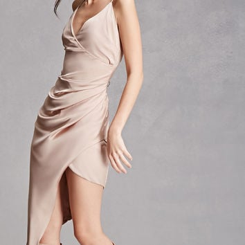 Asymmetrical Satin Cami Dress