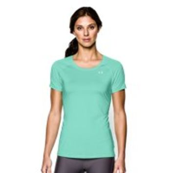 Under Armour Women's UA HeatGear Armour Stripe Short Sleeve