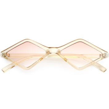 Retro Geometric Diamond Shape Sunglasses C748