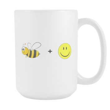 Bee Happy 15oz Mug