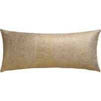 "Glitterati Gold 36""x16"" Pillow With Feather-down Insert"