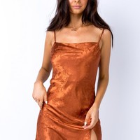 Norman Mini Dress Rust | Princess Polly