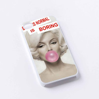 Marilyn Monroe With Pink Bubble Gun iPhone 4/4S, 5/5S, 5C,6,6plus,and Samsung s3,s4,s5,s6