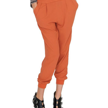 Saturday Slouchy Trouser Pants - Rust