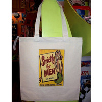 pin up girl tote bag retro 1950's vintage rockabilly burlesque grocery bag  kitsch