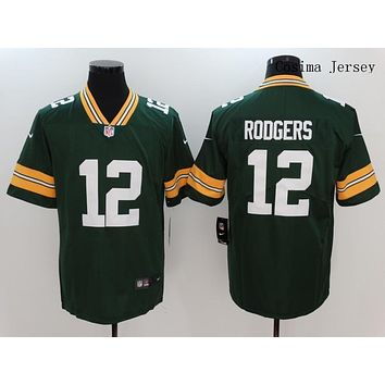 Danny Online Nike NFL Jersey Men's Vapor Untouchable Color Rush Green Bay Packers #12 Aaron Rodgers Football Jersey Green